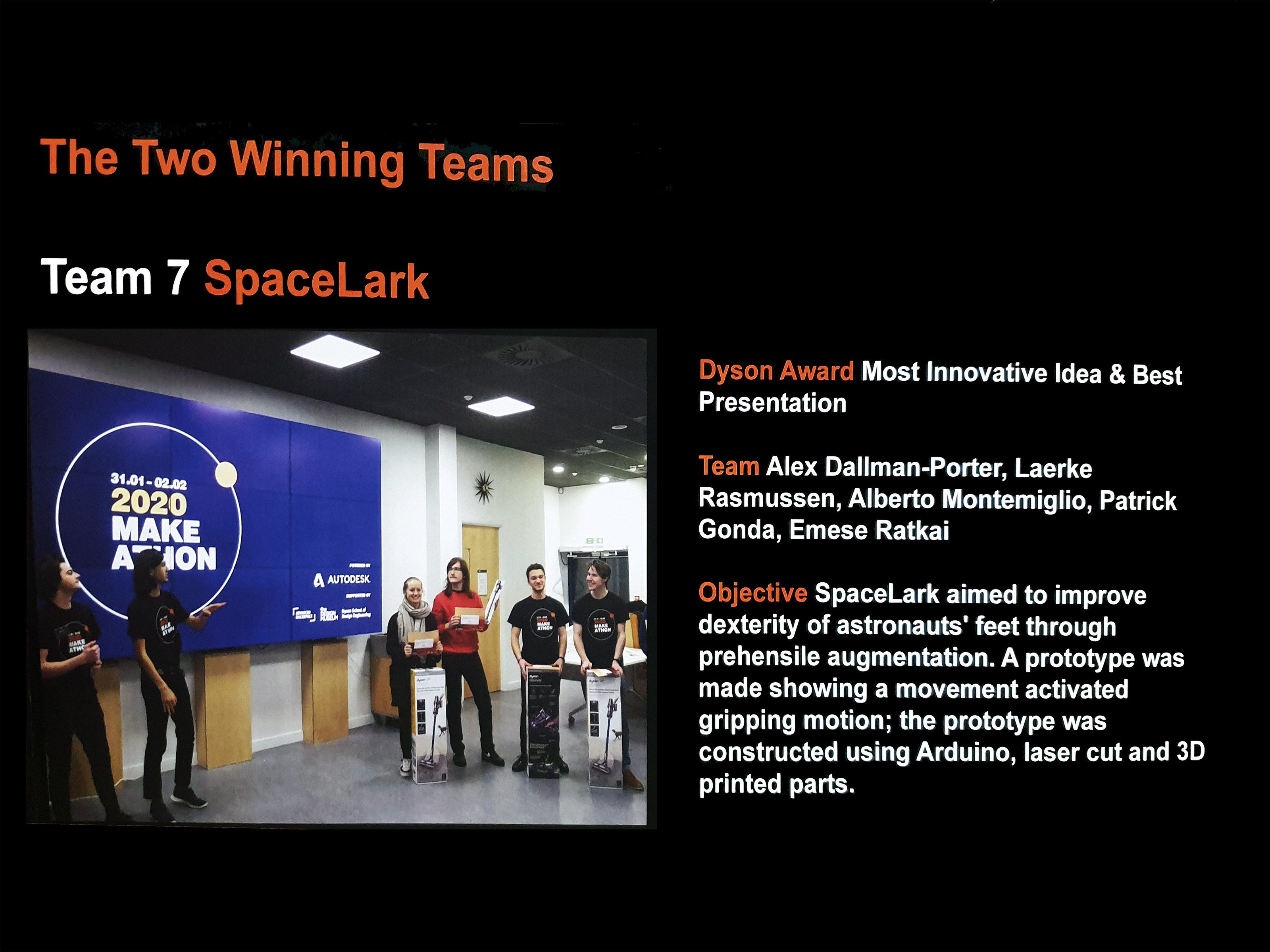 Our team was one of the winners