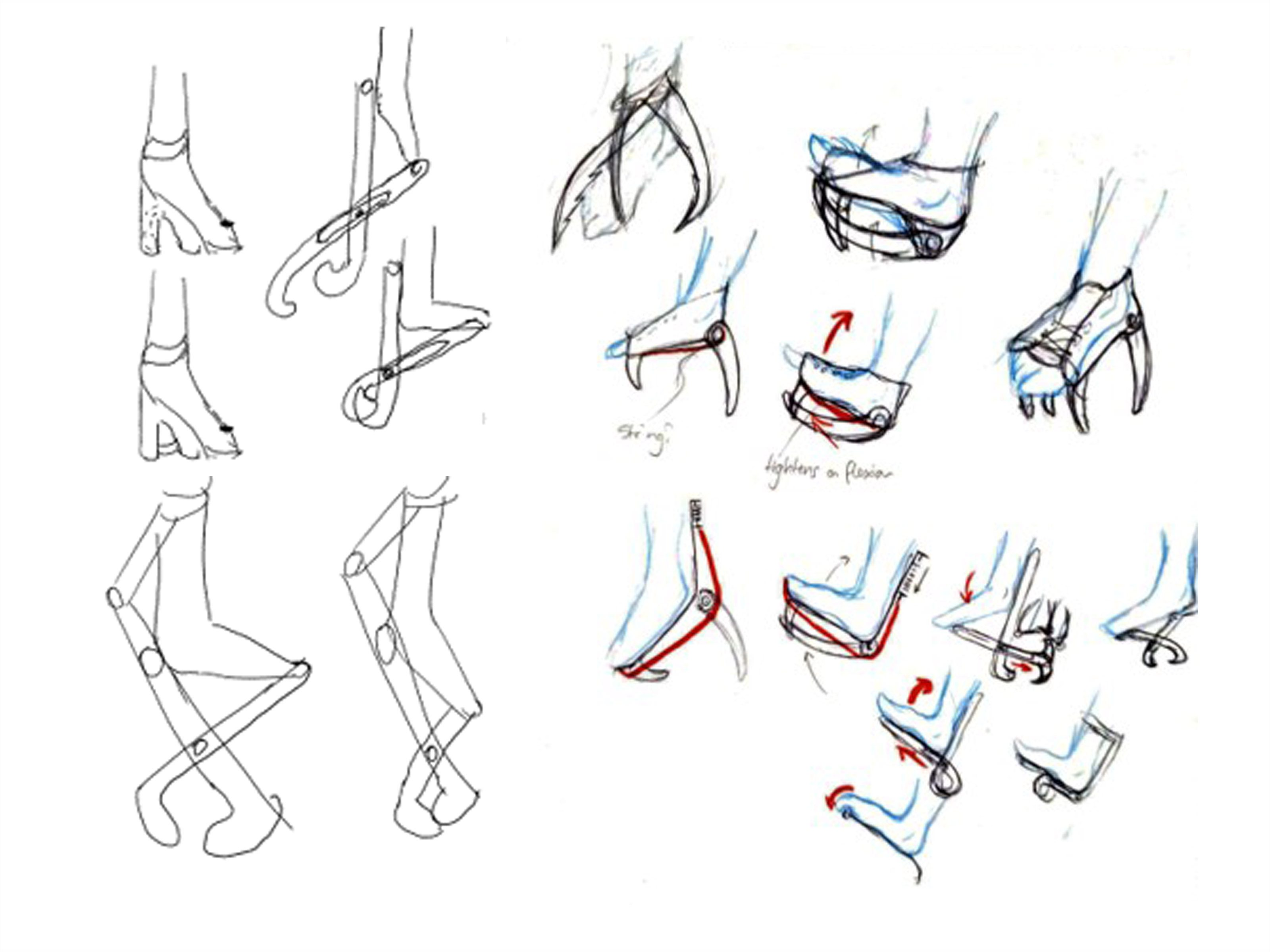 Exploration sketches of movement methods