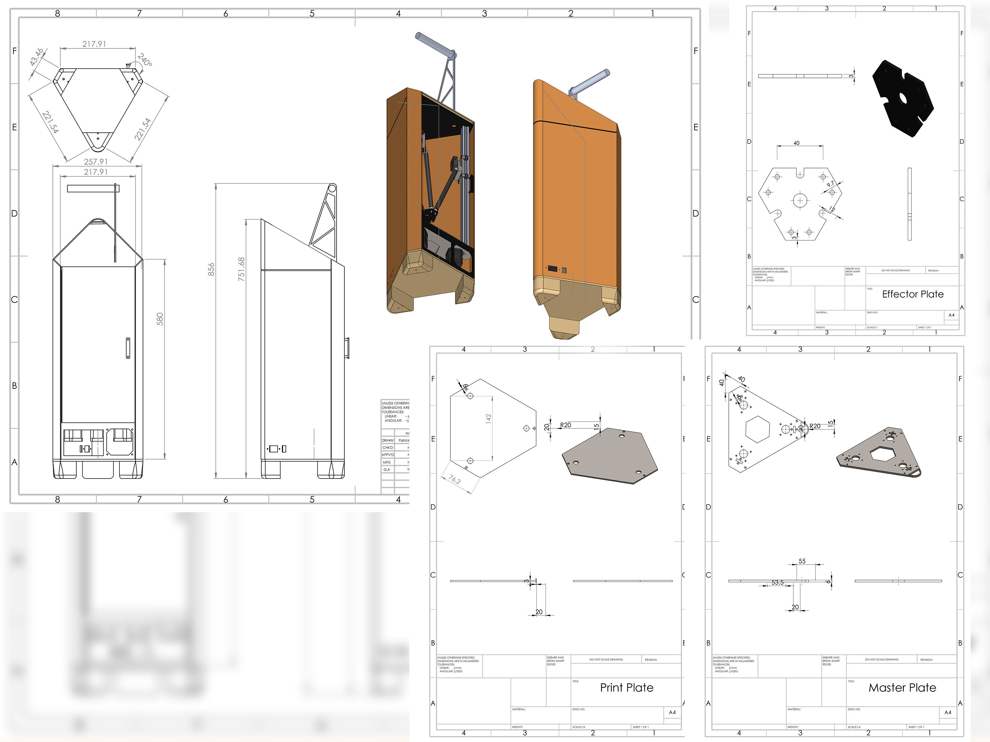 Technical drawings - Done to the BS 8888 standard